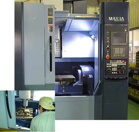 拥有5轴加工机、3D CADCAM、质量检查等最新设备。